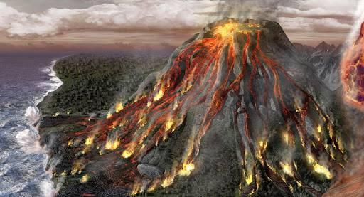 تفسير حلم البركان
