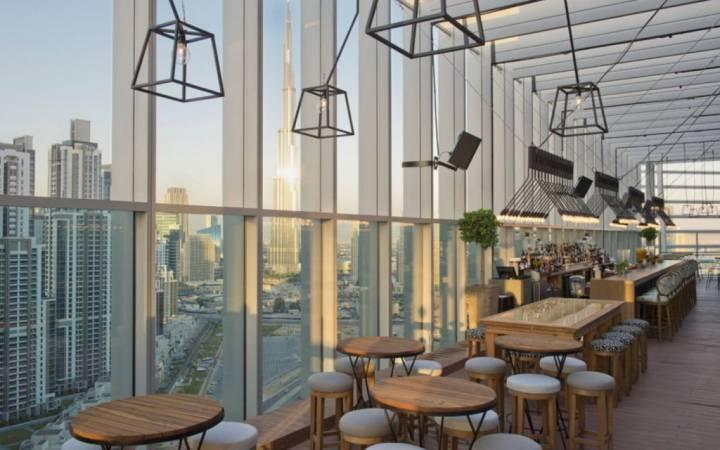 مطاعم على السطح في دبي