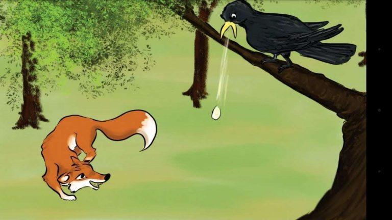 قصة الثعلب والغراب
