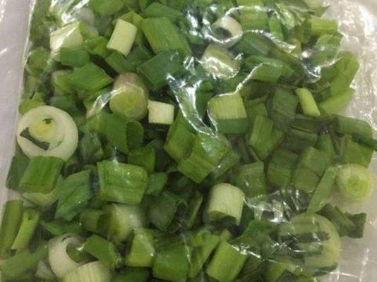 طريقة حفظ البصل الأخضر