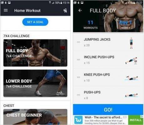 برنامج Home Workout