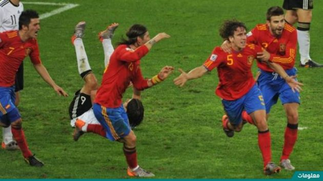 خطة اسبانيا في كاس العالم 2010