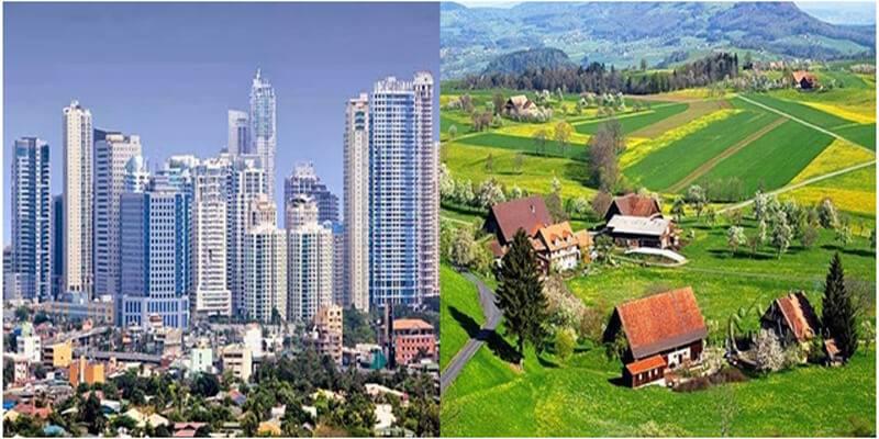 موضوع تعبير عن الفرق بين الريف والمدينة بالعناصر