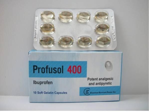 كبسولات بروفوسول Profusol خافض للحرارة ومسكن للآلام
